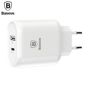 Зарядное устройство Baseus Bojure SeriesType-C PD-U quick charge charger EU 32W set белое