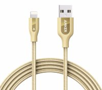 Anker PowerLine+ Lightning(a7114hb1) - USB 1.8 m - кабель для iPhone/iPad (Gold)